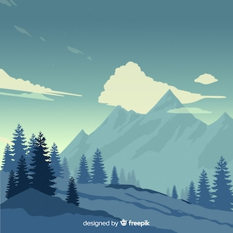 Landscape mountains background