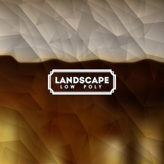 Landscape over low poly background isolated icon design