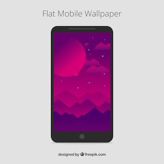 Пейзаж фиолетовые обои для мобильного