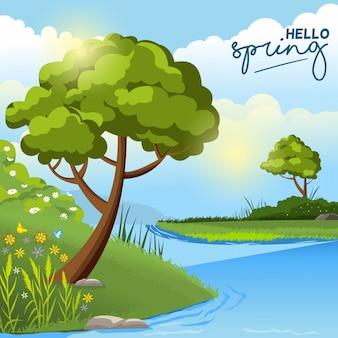 Landscape spring background