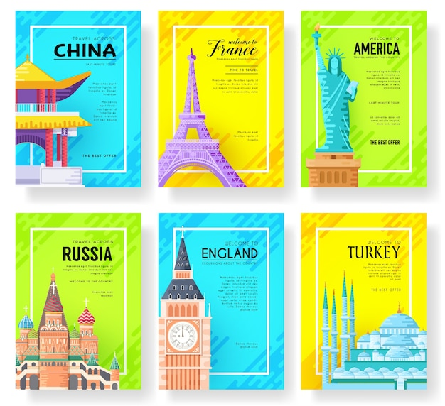 Landscape template of flyear, posters, book, banners.
