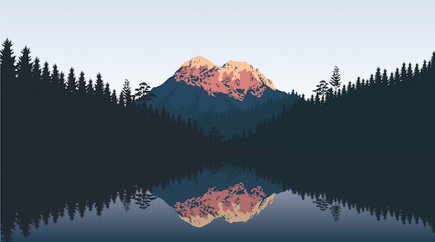 Landscape wallpaper in flat design
