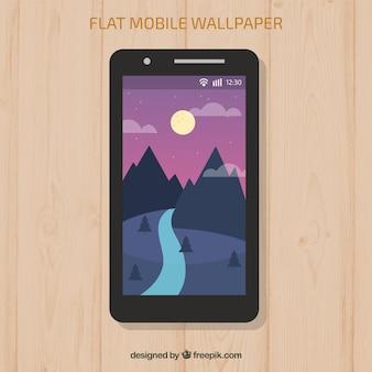 Ландшафтные обои гор и реки для мобильных