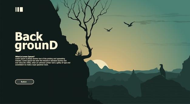 Landscape wildlife background