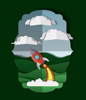 Пейзаж с ракетным снаряжением