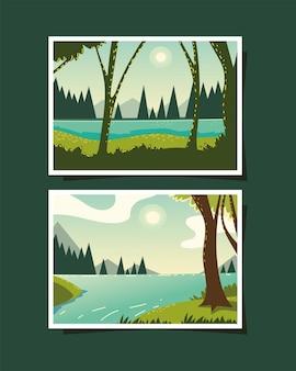 풍경은 숲에서 강을 흐른다 사진