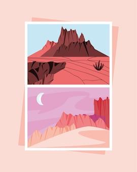 사막 갈라진 땅의 풍경