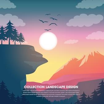 Landspace vector