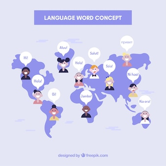 Language concept background with words