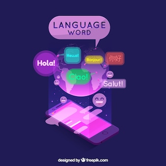 Language concept with flat design