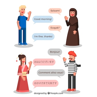 Language concept with speech bubbles