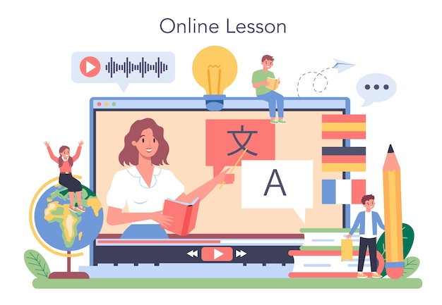 Language learning online service or platform