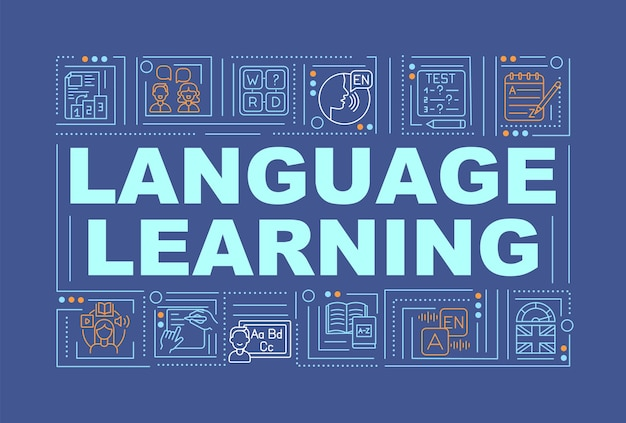 言語学習単語の概念バナー