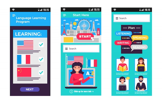 Language training mobile apps