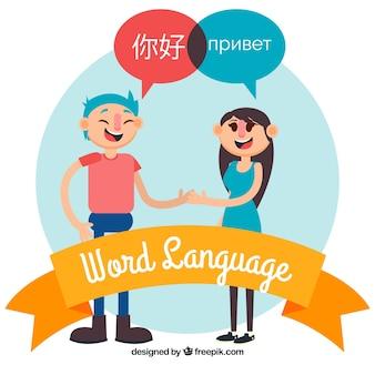 Languages concept with flat design