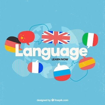 Languages concept with flat design