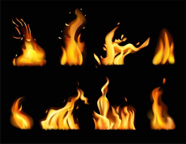 火のイラストの言語