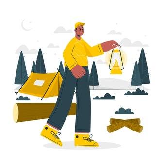 Lantern concept illustration
