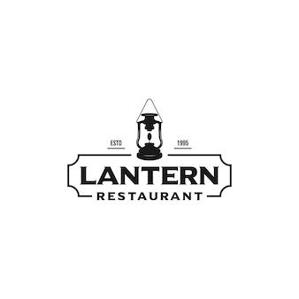 Lantern restaurant logo design vector template illustration