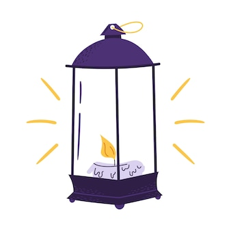 Lantern with candle for halloween