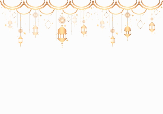 Lanterns pattern a blank white background