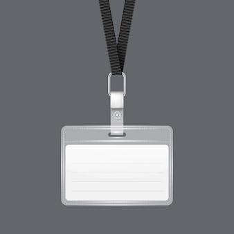 Lanyard with tag badge holder.