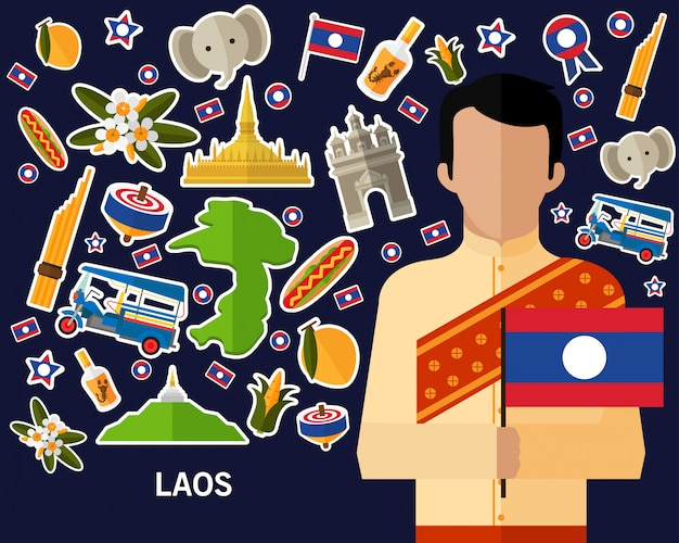 Laos concept background