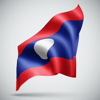 Laos, vector 3d flag isolated on white background