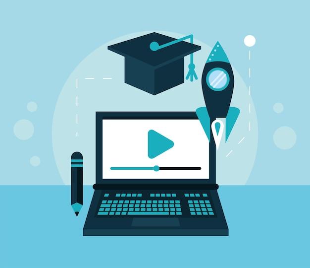 노트북 및 교육 아이콘을 설정