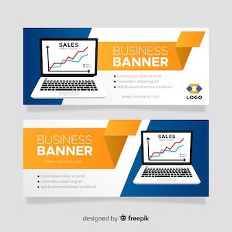 Laptop banner template
