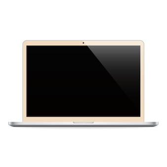 Laptop beige color with black screen