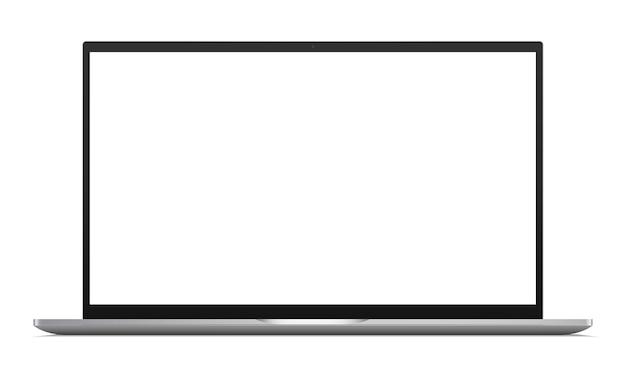 Портативный компьютер с пустым экраном