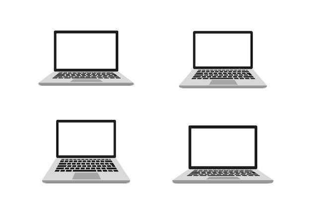 Портативный компьютер с пустой экран иллюстрации