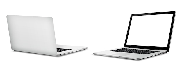 Laptop front and back side