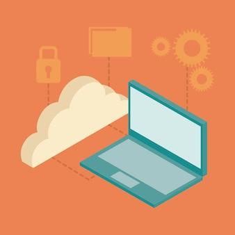 Laptop isometric icons