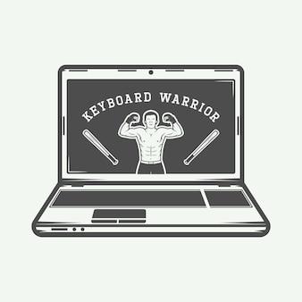 Laptop logo, emblem