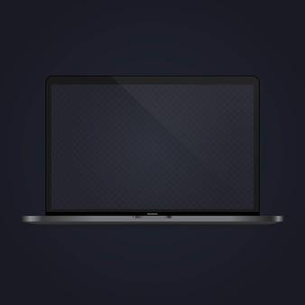 노트북은 배너를 조롱합니다. 공책. 장치 아이콘입니다. 격리 된 흰색 배경에 벡터입니다. eps 10.