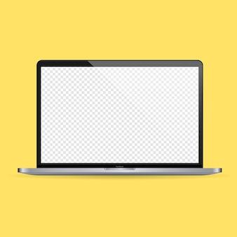 ノートパソコンのモックアップバナー。ノートブックのアイコン。孤立した背景上のベクトル。 eps10。