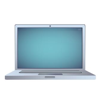 Ноутбук на белом фоне