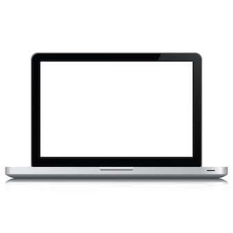 Laptop realistic computer in mockup style. laptop isolated on a white background.