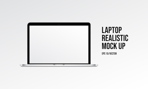 Laptop realistic mock up