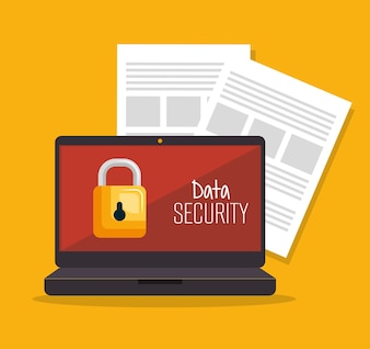 Laptop security data server document
