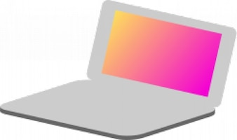Laptop simple icon