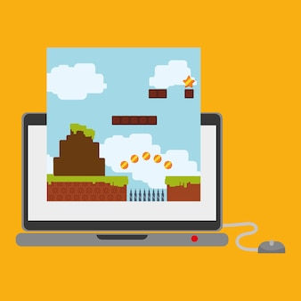 Laptop technology online game mouse