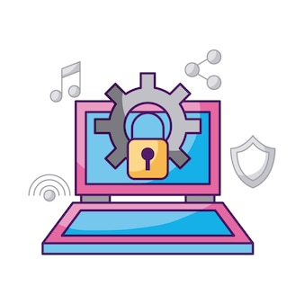 Laptop technology security work system information