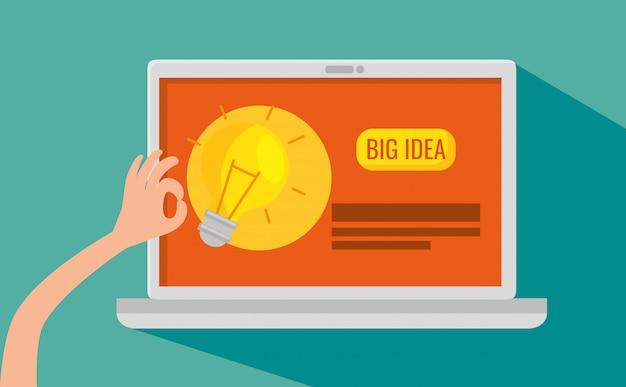 ウェブサイトのビジネス戦略を備えたラップトップ技術