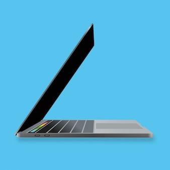Laptop on turquoise background