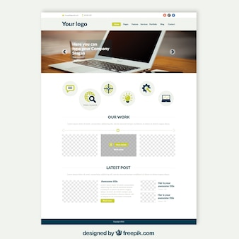 Шаблон сайта ноутбука