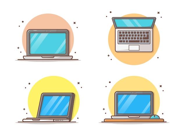 Ноутбук с пустым экраном