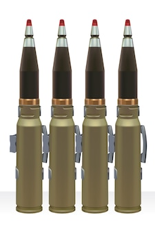 Large caliber ammo for automatic power gun.
